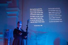 """Oplæsning på """"Nordisk død """", LiteraturHaus, 31. okt. 2019. Foto: Klaus-Henrik Andreasen"""